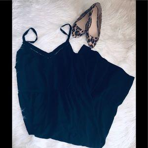 Black midi swing dress